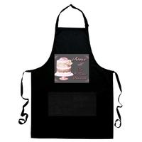 Tablier de cuisine noir La meilleure pâtissière personnalisé avec prénom