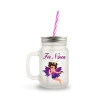 Mason Jar en verre Petite fée personnalisé avec prénom