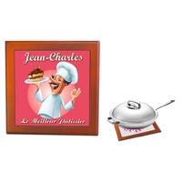 Dessous de plat Le meileur pâtissier personnalisé avec prénom