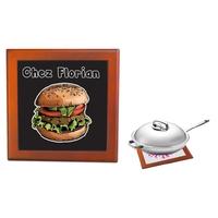 Dessous de plat Burger personnalisé avec prénom