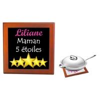 Dessous de plat Maman 5 étoiles personnalisé avec prénom