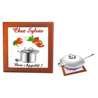 Dessous de plat Bon appétit personnalisé avec prénom