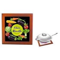 Dessous de plat Légume Végétarien personnalisé avec prénom