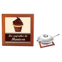Dessous de plat Cupcake personnalisé avec prénom