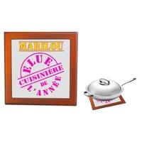 Dessous de plat Elue cuisinière de l'année personnalisé avec prénom