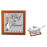 Dessous de plat Chef cuisinier personnalisé avec prénom
