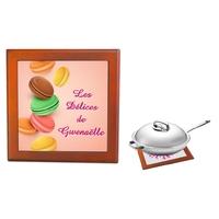 Dessous de plat Macarons personnalisé avec prénom