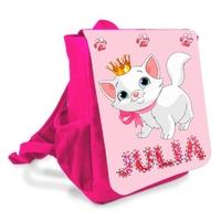 Sac à dos enfant Chat de princesse personnalisé avec prénom