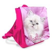 Sac à dos enfant Chat chaton personnalisé avec prénom