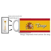 Mug Espagne personnalisé avec prénom avec Anse imprimée !