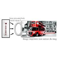 Mug Anglais Londres personnalisé avec prénom avec Anse imprimée !