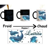 Mug tasse magique Dauphin personnalisé avec prénom