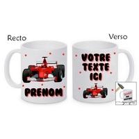 Mug (tasse) incassable Formule 1 personnalisé avec prénom et message