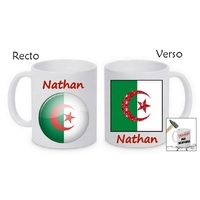 Mug (tasse) incassable Algérie personnalisé avec prénom