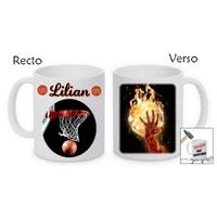 Mug (tasse) incassable Basketball personnalisé avec prénom