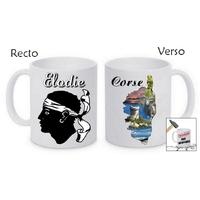 Mug (tasse) incassable Corse personnalisé avec prénom
