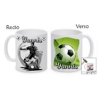 Mug (tasse) incassable Football personnalisé avec prénom