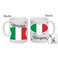 Mug (tasse) incassable Italie personnalisé avec prénom