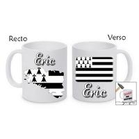 Mug (tasse) incassable Bretagne personnalisé avec prénom