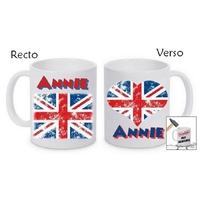 Mug (tasse) incassable Anglais personnalisé avec prénom