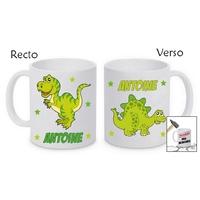 Mug (tasse) incassable Dinosaure personnalisé avec prénom