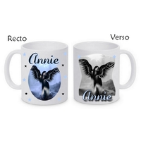Mug (tasse) Ange gothique personnalisé avec le prénom de votre choix