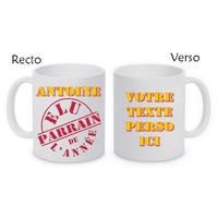 Mug (tasse) Elu Parrain de l'année personnalisé avec le prénom et le message de votre choix