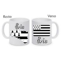 Mug (tasse) Bretagne personnalisé avec le prénom de votre choix
