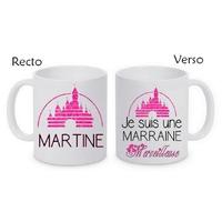 Mug (tasse) Une Marraine Merveilleuse personnalisé avec le prénom de votre choix