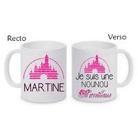 Mug (tasse) Une Nounou Merveilleuse personnalisé avec le prénom de votre choix