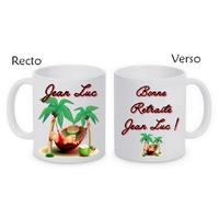 Mug (tasse) Retraite personnalisé avec le prénom de votre choix