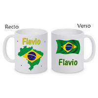 Mug (tasse) Brésil personnalisé avec le prénom de votre choix