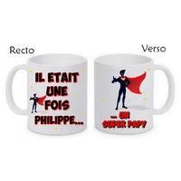 Mug (tasse) Super papy personnalisé avec le prénom de votre choix