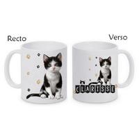 Mug (tasse) Chat Chaton personnalisé avec le prénom de votre choix
