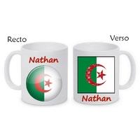 Mug (tasse) Algérie personnalisé avec le prénom de votre choix