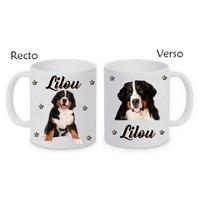 Mug (tasse) Bouvier bernois personnalisé avec le prénom de votre choix