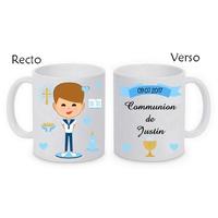 Mug (tasse) Communion garçon personnalisé avec le prénom et la date de votre choix