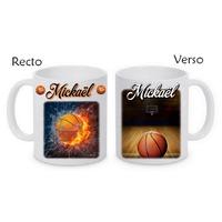 Mug (tasse) Basketball personnalisé avec le prénom de votre choix