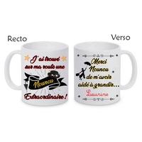 Mug (tasse) Nounou extraordinaire personnalisé avec le prénom de votre choix