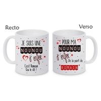Mug (tasse) Nounou d'enfer personnalisé avec le prénom de votre choix