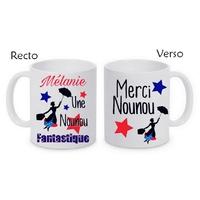 Mug (tasse) Nounou fantastique personnalisé avec le prénom de votre choix