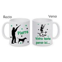 Mug (tasse) Chasseur Chasse personnalisé avec le prénom et le message de votre choix