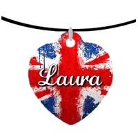 Collier pendentif coeur Anglais personnalisé avec prénom