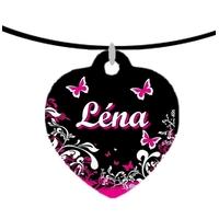 Collier pendentif coeur Fashion girl personnalisé avec prénom