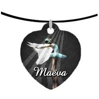 Collier pendentif coeur Danse classique personnalisé avec prénom