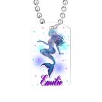 Collier pendentif GI Sirène personnalisé avec prénom