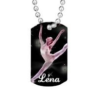 Collier pendentif GI Tag Danse classique personnalisé avec prénom