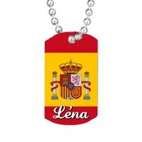 Collier pendentif GI Espagne personnalisé avec prénom