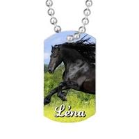 Collier pendentif GI Tag Cheval personnalisé avec prénom