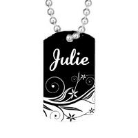 Collier pendentif GI Tag  Baroque personnalisé avec prénom